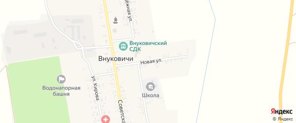 Новая улица на карте села Внуковичей с номерами домов
