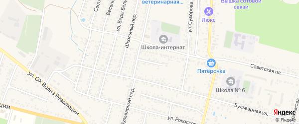 Переулок Суворова на карте Новозыбкова с номерами домов