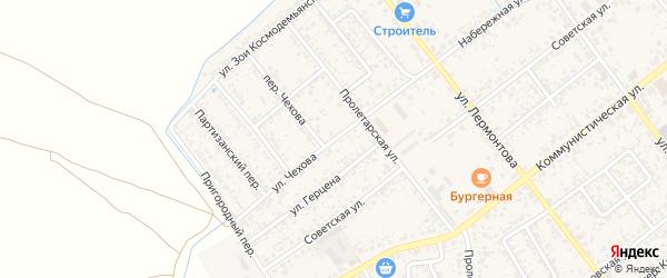 Улица Чехова на карте Новозыбкова с номерами домов