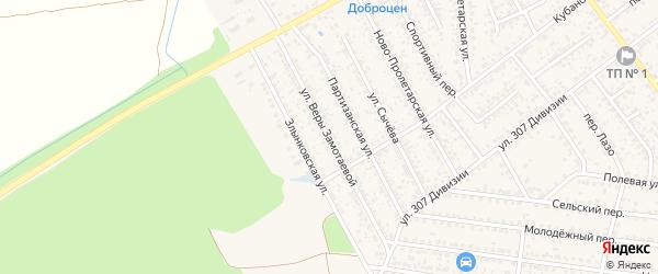 Улица Веры Замотаевой на карте Новозыбкова с номерами домов