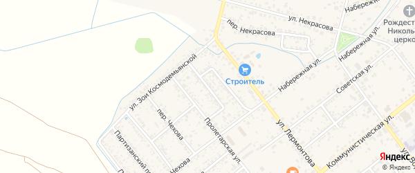 Переулок Щербакова на карте Новозыбкова с номерами домов