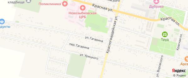 Улица Гагарина на карте Новозыбкова с номерами домов