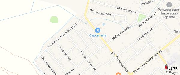 Переулок Курганского на карте Новозыбкова с номерами домов