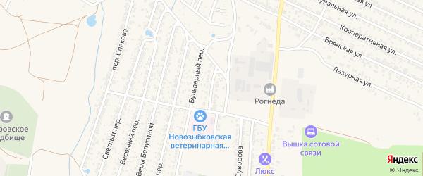 Грузовой переулок на карте Новозыбкова с номерами домов