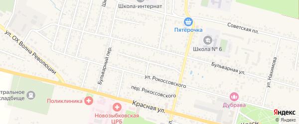 Переулок Буденного на карте Новозыбкова с номерами домов