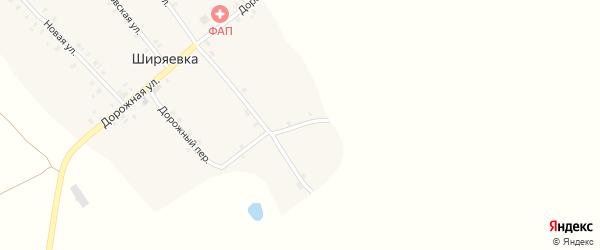 Озерный переулок на карте села Ширяевка с номерами домов