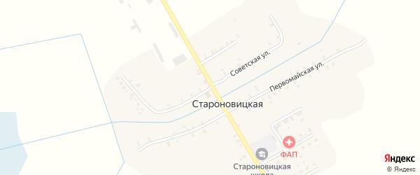 Советская улица на карте Староновицкой деревни с номерами домов
