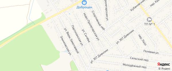 Улица Сычева на карте Новозыбкова с номерами домов