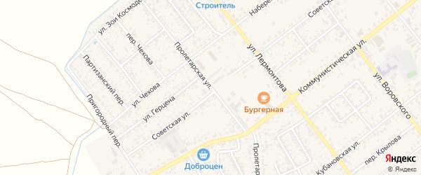 Пролетарская улица на карте Новозыбкова с номерами домов