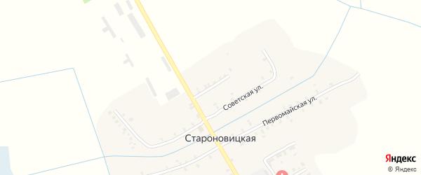 Северный переулок на карте Староновицкой деревни с номерами домов