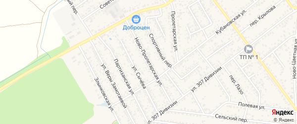 Ново-Пролетарская улица на карте Новозыбкова с номерами домов