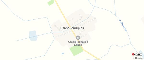 Карта Староновицкой деревни в Брянской области с улицами и номерами домов