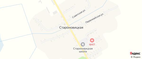 Луговой переулок на карте Староновицкой деревни с номерами домов