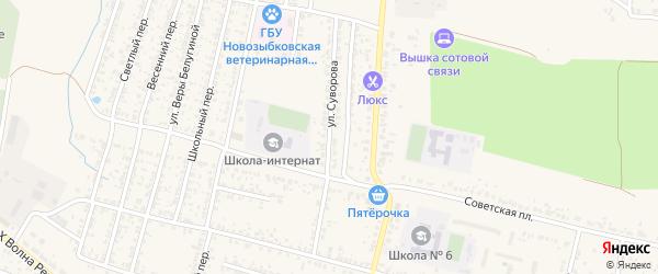 Улица Суворова на карте Новозыбкова с номерами домов