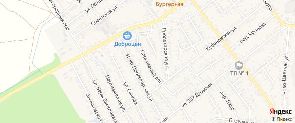 Спортивный переулок на карте Новозыбкова с номерами домов