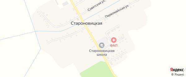 Октябрьская улица на карте Староновицкой деревни с номерами домов