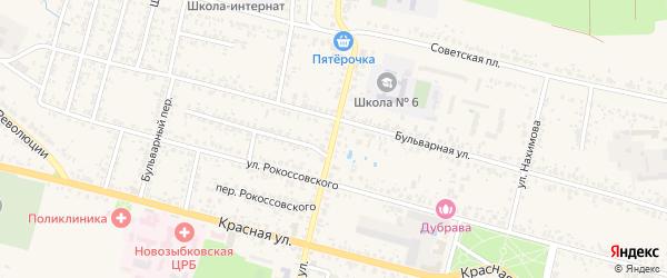 Красногвардейская улица на карте Новозыбкова с номерами домов