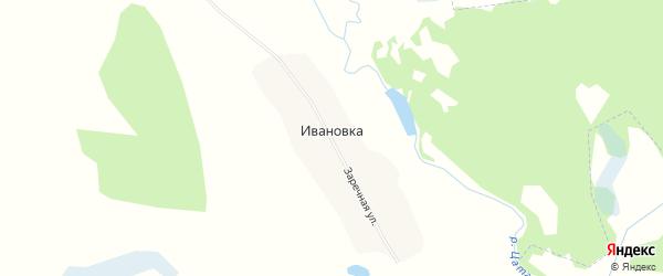Карта деревни Ивановки в Брянской области с улицами и номерами домов