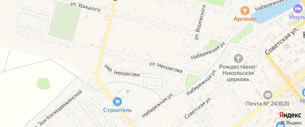 Улица Некрасова на карте Новозыбкова с номерами домов