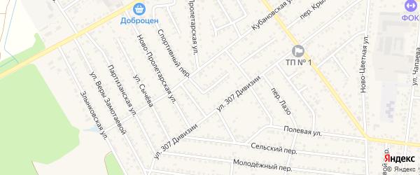 Переулок Жукова на карте Новозыбкова с номерами домов