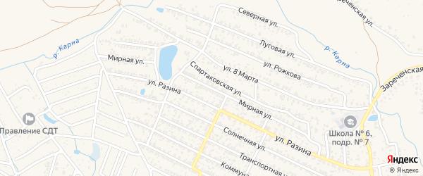 Мирная улица на карте Новозыбкова с номерами домов