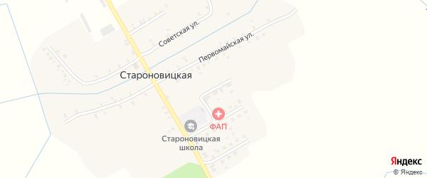 Зеленая улица на карте Староновицкой деревни с номерами домов