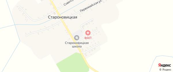 Школьная улица на карте Староновицкой деревни с номерами домов