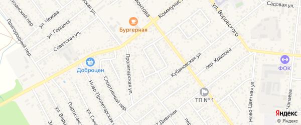 Переулок Гастелло на карте Новозыбкова с номерами домов
