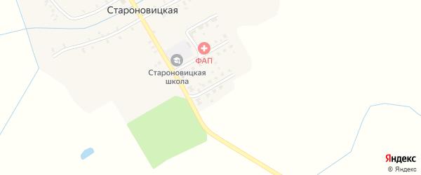 Садовая улица на карте Староновицкой деревни с номерами домов