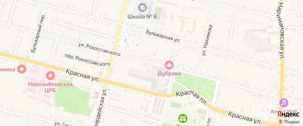 Улица Рокоссовского на карте Новозыбкова с номерами домов