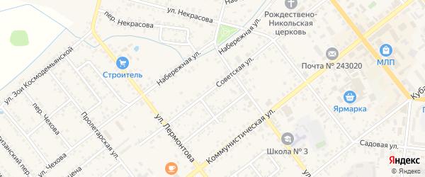 Советская улица на карте Новозыбкова с номерами домов