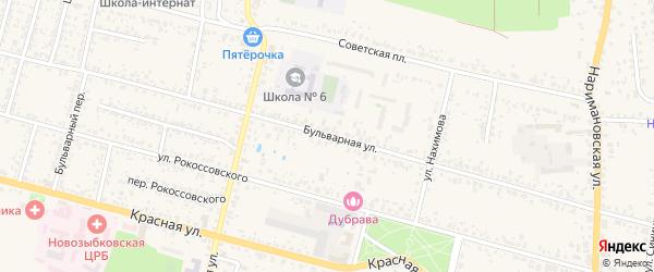Бульварная улица на карте Новозыбкова с номерами домов