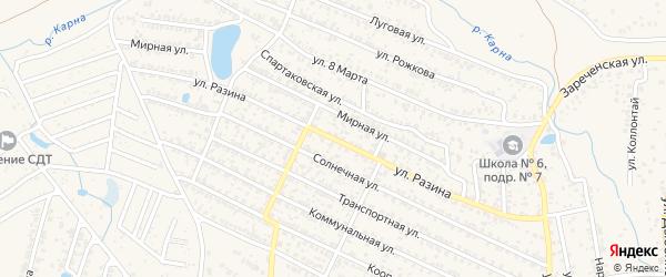 Улица Разина на карте Новозыбкова с номерами домов