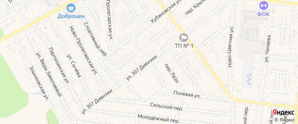 Полевой переулок на карте Новозыбкова с номерами домов