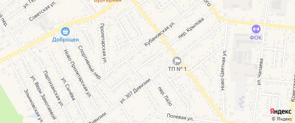 Переулок Рубанова на карте Новозыбкова с номерами домов