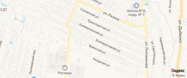 Кооперативная улица на карте Новозыбкова с номерами домов