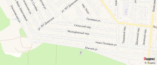 Молодежный переулок на карте Новозыбкова с номерами домов