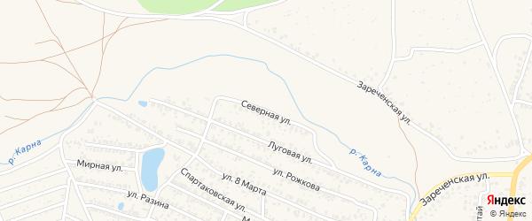 Северная улица на карте Новозыбкова с номерами домов