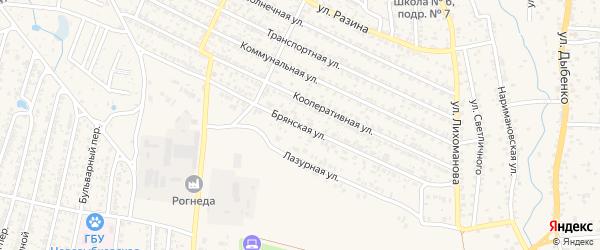 Брянская улица на карте Новозыбкова с номерами домов