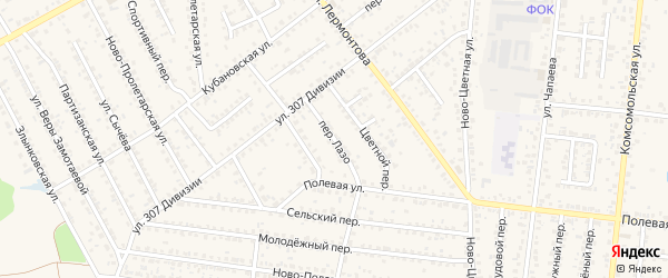 Переулок Лазо на карте Новозыбкова с номерами домов