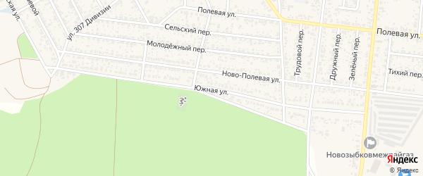 Южная улица на карте Новозыбкова с номерами домов