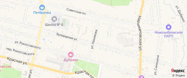 Улица Нахимова на карте Новозыбкова с номерами домов