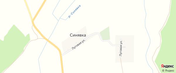 Луговая улица на карте поселка Синявки с номерами домов