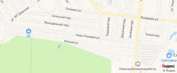 Ново-Полевая улица на карте Новозыбкова с номерами домов