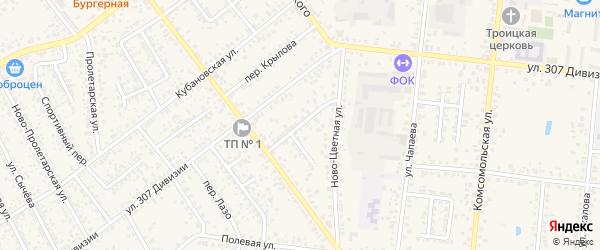 Переулок Чайковского на карте Новозыбкова с номерами домов