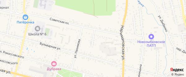 Советский переулок на карте Новозыбкова с номерами домов