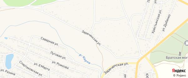 Зареченская улица на карте Новозыбкова с номерами домов