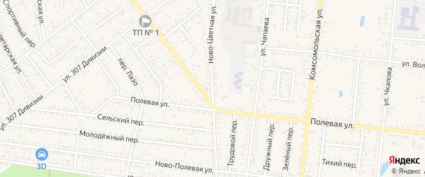 Ново-Цветная улица на карте Новозыбкова с номерами домов