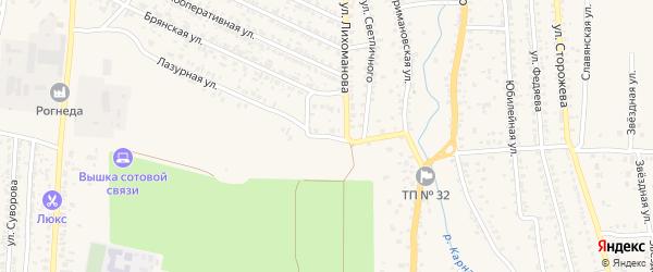 Проезд Космонавтов на карте Новозыбкова с номерами домов