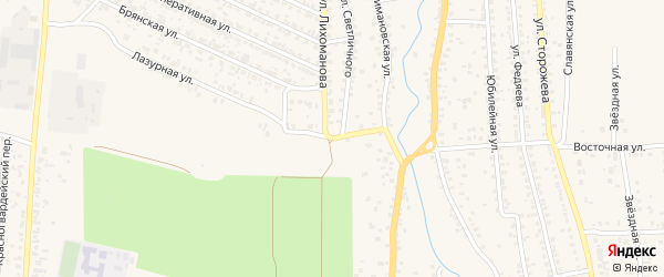 Наримановская улица на карте Новозыбкова с номерами домов